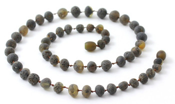 Necklace, Jewelry, Green, Raw, Beaded, Unpolished, Amber, Men, Baltic 2