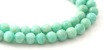 Round Amazonite 6 mm Gemstone Beads 2