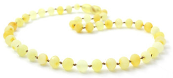 Necklace, Baltic, Teething, Amber, Beaded, Butter, Milky, Natural, Jewelry