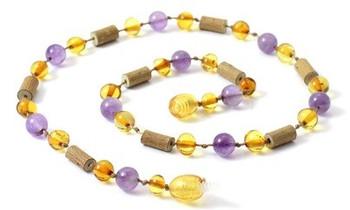 Honey, Amethyst, Necklace, Hazelwood, Polished, Teething, Jewelry, Amber, Baltic 2