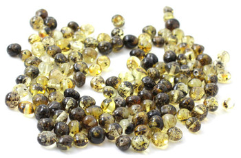 Amber, Green, Polished, Beads, Light, Dark, Natural, Baroque, Baltic, Supplies 2