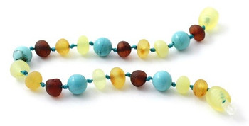 Multicolor, Amber, Turquoise, Anklet, Teething, Bracelet, Unpolished, Raw, Jewelry 2