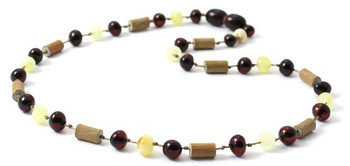 Cherry, Hazelwood, Amber, Milky, Butter, Necklace, Teething, Jewelry, Hand-made