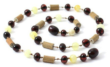 Cherry, Hazelwood, Amber, Milky, Butter, Necklace, Teething, Jewelry, Hand-made 2