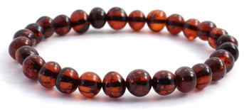 Baroque, Cherry, Amber, Stretch, Polished, Jewelry, Bracelet, Beaded, Black