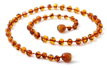 Cognac, Baltic, Necklace, Amber, Jewelry, Baroque, Teething, Kids, Polished 2