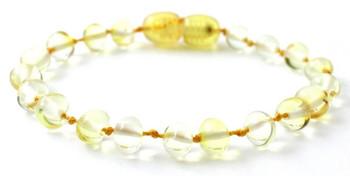 Amber, Baltic, Anklet, Lemon, Teething, Adult, Bracelet, Jewelry, Polished, Baroque