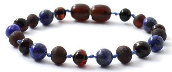 Cherry, Raw, Lapis Lazuli, Anklet, Polished, Blue, Bracelet, Teething, Unpolished