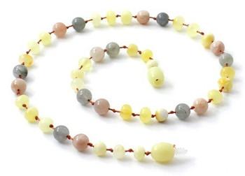 Sunstone, Milky Amber, Polished, Baltic, Labradorite, Gemstone, Necklace, Jewelry, Teething, Natural 2