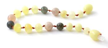 Labradorite, Milky, Butter, Polished, Baltic Amber, Anklet, Sunstone, Bracelet 2