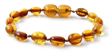 Olive, Amber, Bean, Cognac, Polished, Beaded, Bracelet, Anklet, Baltic, Jewelry
