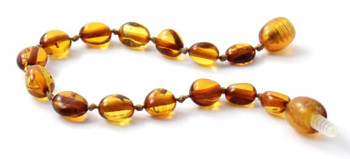 Olive, Amber, Bean, Cognac, Polished, Beaded, Bracelet, Anklet, Baltic, Jewelry 2