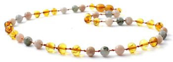Baltic Amber, Gemstone, Sunstone, Necklace, Labradorite, Jewelry, Teething, Honey