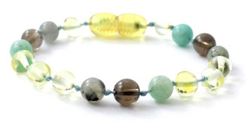 Polished, Lemon, Labradorite, Bracelet, Smoky Quartz, Baltic Amber, Anklet, Teething, Amazonite
