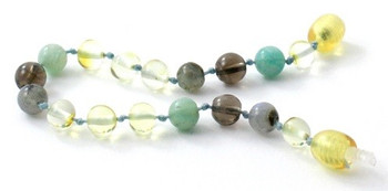 Polished, Lemon, Labradorite, Bracelet, Smoky Quartz, Baltic Amber, Anklet, Teething, Amazonite 2