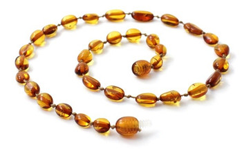 Bean, Baltic, Cognac, Amber, Polished, Necklace, Teething, Beaded, Jewelry, Olive 2