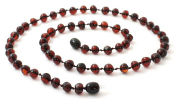 Adult, Cherry, Baroque, Necklace, Beaded, Polished, Amber, Women, Baltic, Jewelry 2
