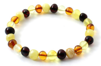 Amber, Mix, Bracelet, Multicolor, Polished, Stretch, Jewelry, Beaded, Baltic 2