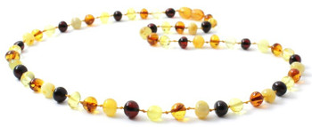 Necklace, Polished, Amber, Baltic, Mix, Beaded, Multicolor, Jewelry