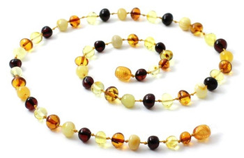 Necklace, Polished, Amber, Baltic, Mix, Beaded, Multicolor, Jewelry 2