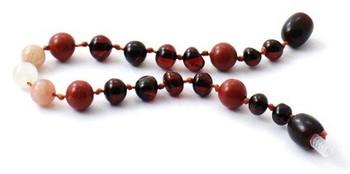 Moonstone, Cherry, Polished, Necklace, Baltic Amber, Sunstone, Teething, Red Jasper 2