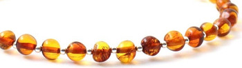 Amber, Baltic, Anklet, Jewelry, Silver, Cognac, Sterling 925, Adjustable, Polished 2