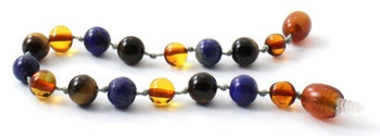 Lapis Lazuli, Cognac, Baltic Amber, Blue, Bracelet, Teething, Tiger Eye, Anklet 2