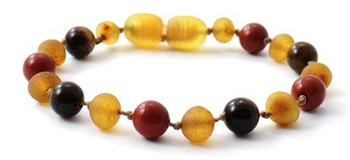 Red Jasper, Bracelet, Baltic, Raw Honey, Tiger Eye, Amber, Unpolished, Teething