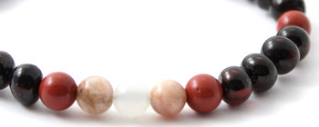 Cherry, Women, Moonstone, Baltic, Stretch, Jewelry, Polished, Bracelet, Red Jasper, Sunstone 2