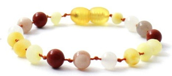 Unpolished, Bracelet, Butter, Anklet, Milky, Moonstone, Baltic Amber, Sunstone, Teething