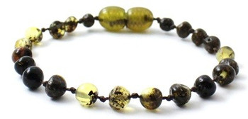 Bracelet, Green, Amber, Polished, Baltic, Teething, Anklet, Jewelry, Beaded