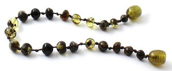 Bracelet, Green, Amber, Polished, Baltic, Teething, Anklet, Jewelry, Beaded 2