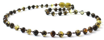 Baltic, Green, Teething, Jewelry, Polished, Amber, Necklace, Beaded