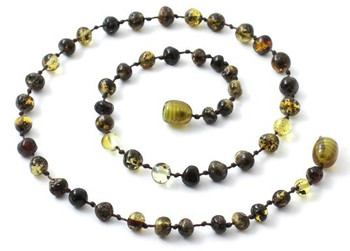 Baltic, Green, Teething, Jewelry, Polished, Amber, Necklace, Beaded 2