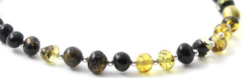 Silver, Amber, Green, Anklet, Polished, Jewelry Baltic, Sterling 925, Adjustable 2