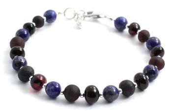 Cherry, Silver, Amber, Polished, Raw, Lapis Lazuli, Sterling 925, Baltic, Jewelry