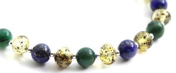 African Jade, Amber, Green, Baltic Jewelry, Bracelet, Polished, Lapis Lazuli, Beaded 3