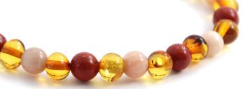 Red Jasper, Honey, Baltic, Stretch, Bracelet, Sunstone, Polished, Jewelry 2