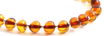 Silver, Bracelet, Cognac, Sterling 925, Baltic Amber, Polished, Jewelry, Beaded 2