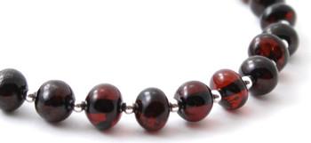 Silver 925, Cherry, Sterling, Bracelet, Amber, Women, Jewelry, Baltic, Beaded 2