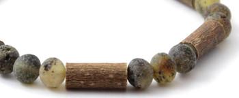 Bracelet, Unpolished, Green, Amber, Baltic, Stretch, Hazelwood, Jewelry, Natural 2