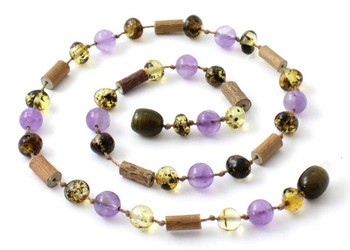 Hazelwood, Green, Amber, Polished, Baltic, Amethyst, Necklace, Jewelry 2