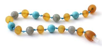 Turquoise, Anklet, Labradorite, Bracelet, Baltic Amber, Raw, Honey, Unpolished, Teething 2