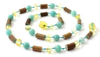 Lemon, Baltic, Hazelwood, Necklace, Adult, Teething, Polished, Amazonite, Jewelry 2