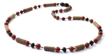 Necklace, Red Jasper, Amber, Polished, Cherry, Jewelry, Baltic, Natural, Adult, Women
