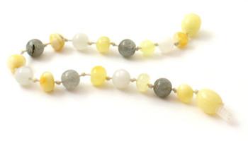 Polished Milky, Bracelet, Labradorite, Baltic Amber, Anklet, Jewelry, Teething, Moonstone 2