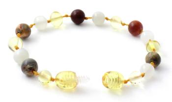 Bracelet, Authentic, Amber, Lemon, Polished, Teething, Anklet, Crazy Agate, Gemstone, Moonstone 2