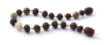 Cherry, Baltic, Unpolished, Crazy Agate, Raw, Teething, Bracelet, Anklet, Baltic, Jewelry 2