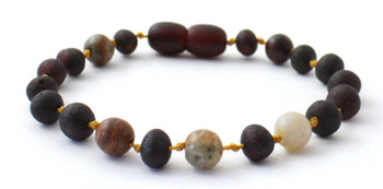 Cherry, Baltic, Unpolished, Crazy Agate, Raw, Teething, Bracelet, Anklet, Baltic, Jewelry