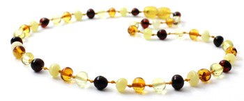 Kid, Mix, Amber, Necklace, Polished, Multicolor, Baltic, Teething, Jewelry